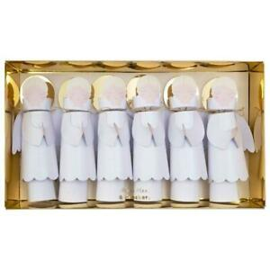 MERI MERI CHRISTMAS Angel Luxury Large Christmas Crackers (6 Pack)