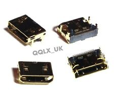 2pcs Mini HDMI female socket SMD four fixed 19-pin SMD pin plug connector - UK