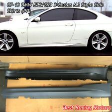 M Style Side Skirts (PP) Fits 07-13 BMW E92 E93 2dr 3-Series