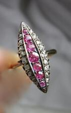 Victorian Pink Sapphire Diamond Ring Appraised $2175 Wedding Engagement Ring