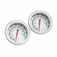 """2"""" Steel Barbecue Thermometer Gauge Smoker Charcoal Grill Temperature BBQ Tools"""
