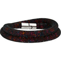 Swarovski Stardust 5152144 Black w/ Mixed Crystals Medium Double Wrap Bracelet