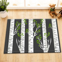 Birch Tree Trunk Bath Mat Rug Non-Slip Home Kitchen Entrance Door Carpet 24x16""
