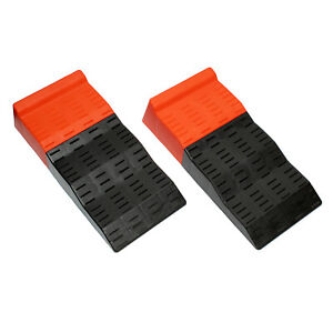 BISupply   Tandem Axle Leveler Ramps – 3 Step RV and Camper Leveling Ramps, 2 Pk