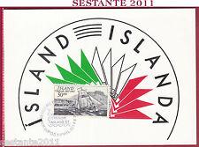 ITALIA MAXIMUM MAXI CARD 1987 ISLAND POST ISLANDA ANNULLO REYKJAVIK MILANO B304