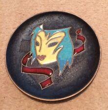 Ruscha firmado mediados siglo moderno Máscara placa colgante de pared West German Cerámica 60s