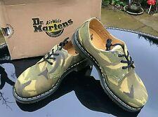Dr. Martens 1461 green Camo suede 3 eye Gibson shoes UK 6 EU 39 BNIB RRP £125