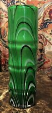 Tozai Home Cased Glass Handmade Unique Vase- Green - 12�-Flawless- One Of A Kind