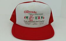Vtg OIP Original Italian Pizza PA One Size Adult Snap Back Trucker Hat Hipster