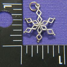 "SNOWFLAKE 5 point 1"" Vintage Charm Pendant, 820"