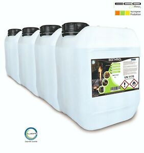 4x5 Liter ECO-Clean® Bioethanol 96,6% Kamin Alkohol 20L
