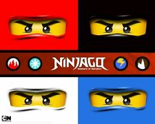 Lego Ninjago Iron On Transfer Light or Dark Fabrics 5 x 7 Size