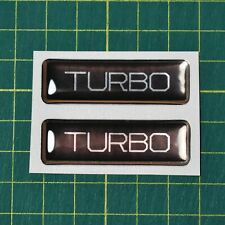 2x Turbo Domed Stickers - High Gloss Raised Finish