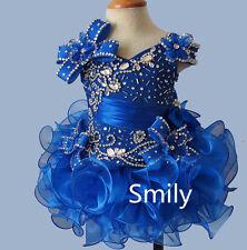 Hot Sale Elegant Infant/toddler/baby/children/kids glitz Girl's Pageant Dress