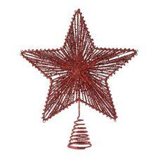 Decorazioni rossi stella per albero di Natale