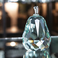 H&D Fengshui Crystal Pear Paperweight Craft Decoration Desktop Gift Light Green