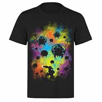 SPACE FIGHTER MEGAMAN ULTRA BRIGHT UNISEX BLACK PH38 T-SHIRT