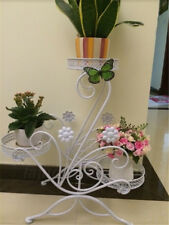 3 Tiered Metal Scroll Classic Plant Stand Flower Pot Rack Display Shelf Garden