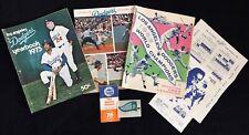 1963, 1973 Los Angeles Dodgers yearbooks, '73 Scorecard, Dd pkg