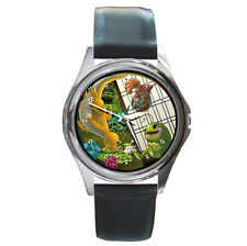 Pokemon grass fire type leather wrist watch