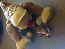 "LARGE GIANT DK DONKEY KONG (SUPER MARIO) 16"" SOFT PLUSH TOY TEDDY +DK TOY CAR"