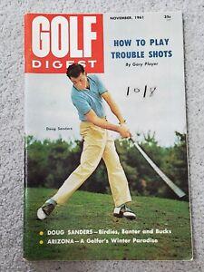 GOLF DIGEST MAGAZINE (NOVEMBER, 1961) W/ DOUG SANDERS, GARY PLAYER