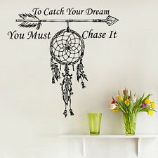 Wall Decals Quote To Catch Your Dream Catcher Vinyl Sticker Feather Arrow MS760