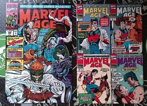 Marvel Age #102 & 103 1991 Preview of X-Force Wonder Man Cable Terminator Comic