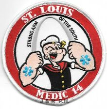 "*NEW*  St. Louis  Medic - 14  ""Popeye"", Missouri  (4"" round size)  fire patch"