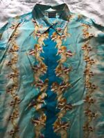 VERSUS VERSACE VINTAGE SILK cherub/ Angel BLUE GOLD  superb condition