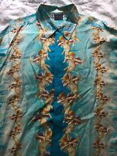 Versus Versace Vintage Seda Ángel Querubín/oro Azul Excelente Estado
