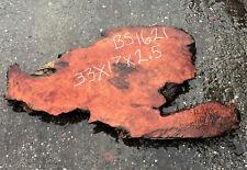 Live Edge Slab | Redwood burl | Rustic  furniture | bs1621