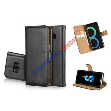 Luxury Genuine Real Leather Flip Case Wallet Cover Stand For HTC Mobile Phone