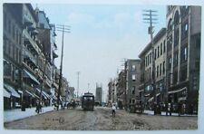 VINTAGE POSTCARD ELIZABETH New Jersey STREET SCENE trolley railway railroad