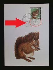 SCHWEIZ MK 1966 846 TIERE EICHHÖRNCHEN SQUIRREL CARTE MAXIMUM CARD MC CM c8374