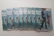 Lot 8 -Vintage Twitchell Knee High Stockings Suntan Sz 8 ½-11 Deadstock New