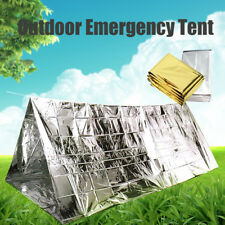 Outdoor Emergency Thermal Tent Camping Hiking Rescue Space Blanket Cover Shelter