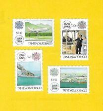 """TRINIDAD & TABAGO 1988 - postfrisch**MNH - MiNr.571-574 """"300 Jahre Lloyds"""""""