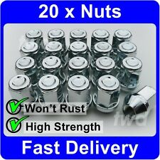 20 x ALLOY WHEEL NUTS FOR SUBARU (M12x1.25) TAPERED SEAT 19MM HEX LUG BOLTS [U7]