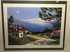 """Alex Pauker """"Lake View I""""  Serigraph Signed Limited Edition Numbered 53/350"""