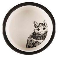 25120 Elegant Trixie Ceramic Cat Bowls - Food / Water Cats Bowl Dish