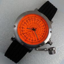 Russian 24-hour mechanical watch Polar Bear (Barneo) 46 mm orange