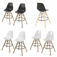 Set of 2 Counter Height High Chair Island Bar Stool Patio Dining Bar Pub Chair