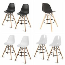 Set of 2 Counter Height High Chair Island Bar Stool Patio Dining Bar Pub Chair