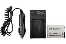 Battery and Charger For Canon PowerShot ELPH 130 HS ELPH 320 HS Camera NB-11L