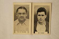GUBBY ALLEN / W.VOCE-1930's VINTAGE CRICKET CARDS- BDV CIGS.