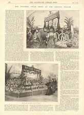 1896 ANTIQUE PRINT-ARTICLE-NATIONAL CYCLE SHOW AT THE CRYSTAL PALACE