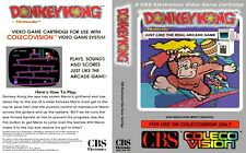 - Donkey Kong ColecoVision Replacement Cover Art Work + Game Box Only