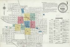 Hugo, Oklahoma~Sanborn Map© sheets with 16 maps in full color~1908 to 1918