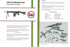 Heckler & Koch c1978 Hk21A1 Light Machine Gun Brochure
